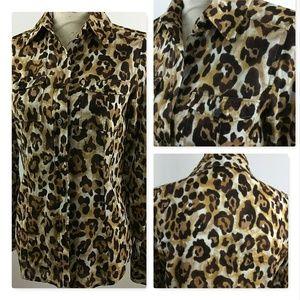 Michael Kors Size 4 Women's Long Sleeve Blouse